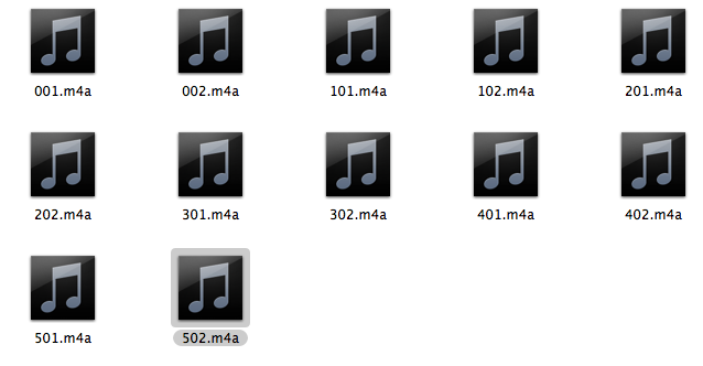AudioHacker が出力したファイル