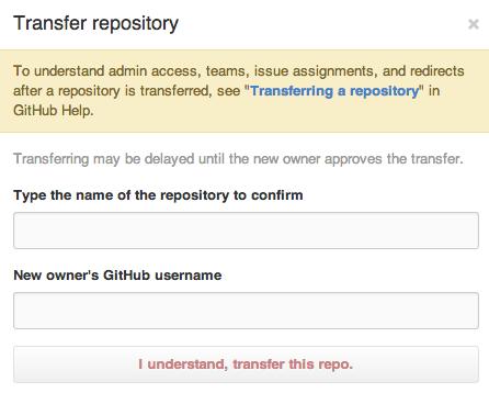 Transfer repository するところ